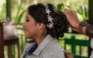 porter bijou tête mariage